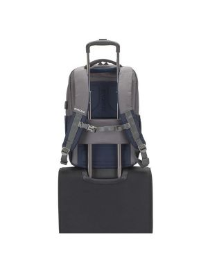 Backpack laptop suzuka 17.3 blue Rivacase 7777BLUGREY 4260403574737 7777BLUGREY