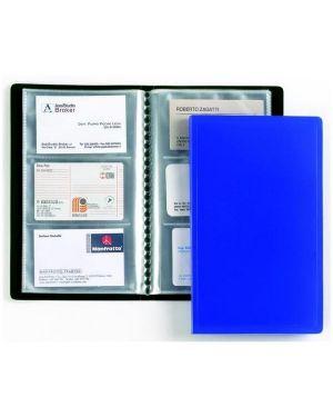 Portabiglietti visita 20 buste a 4 tasche 12,7x27cm blu favorit 100460546 8006779992340 100460546_71930