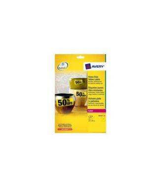 Etichette l6127-20fg in poliestere giallo fluo 99,1x139mm 4etich./Fg laser L6127-20_71967