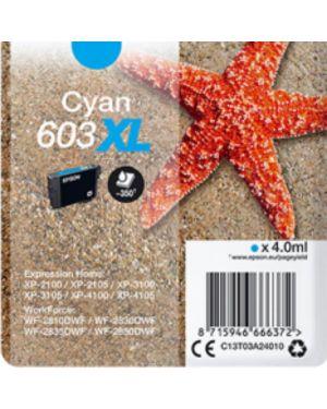 Cart.ink ciano 603xl stella marina Epson C13T03A24010 8715946666372 C13T03A24010