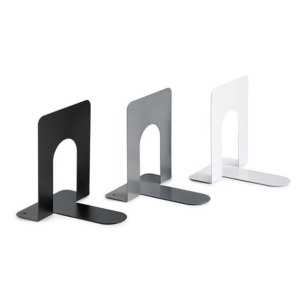 Coppia reggilibri neri in metallo art.7250 7250N