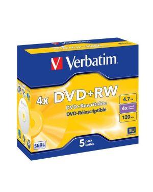 Dvd+rw  4 7gb  4x     conf.5      s Verbatim 43229/5 23942432296 43229/5