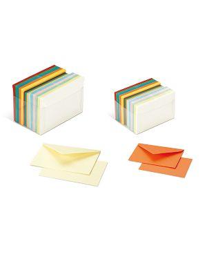 Scatola 100 cartoncini 200gr + 100 buste 90gr arcobaleno formato 9 favini A57X154 8007057745412 A57X154_72131 by No