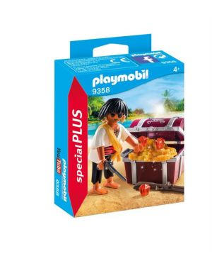 Pirata con scrigno del tesoro PlayMobil 9358 4008789093585 9358
