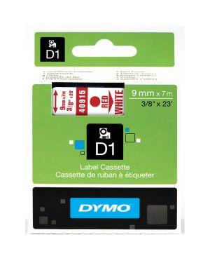 Nastro dymo tipo d1 (9mmx7m) rosso - bianco 409150 S0720700 71701409157 S0720700