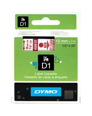 Nastro dymo tipo d1 (12mmx7m) rosso - trasparente 450120 S0720520 5411313450126 S0720520