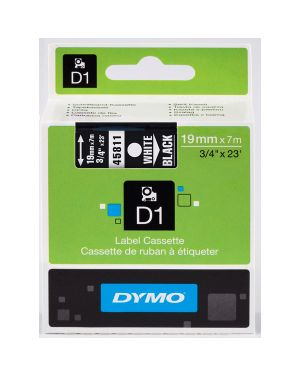 Nastro dymo tipo d1 (19mmx7mt) bianco - nero 458110 S0720910 5411313452212 S0720910