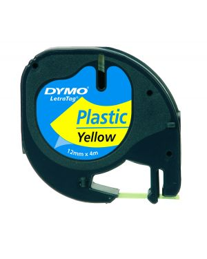Nastro in plastica dymo letratag 12mmx4m giallo 912020 S0721620 71701913326 S0721620