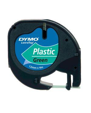 Nastro in plastica dymo letratag 12mmx4m verde 912040 S0721640 5411313912044 S0721640