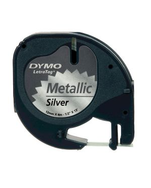 Nastro metallico dymo letratag 12mmx4m argento 912080 S0721730 5411313912082 S0721730