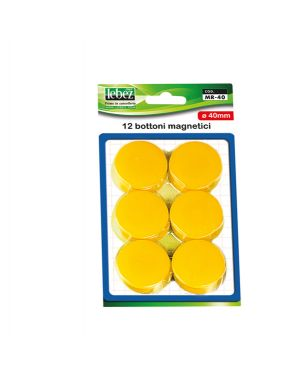 Blister 12 magneti mr-40 nero diam.40mm MR-40-N 8007509002575 MR-40-N by Lebez
