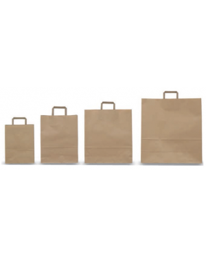Scatola 250 shoppers 36x12x41cm avana neutro piattina 001659_73149