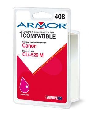 Cartuccia magenta per canonpixma ip4850, mg5150, mg5250, mg6150, mg8150 B12563R1 3112539256913 B12563R1_ARMCLI526M by Armor