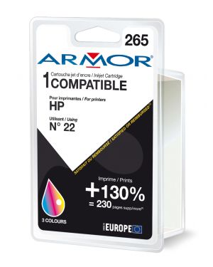 Cartuccia colori per hp n22 psc 1410, 1415, deskjet f380, d1360 doppia capacita B20233R1 3112539223038 B20233R1_ARMH22