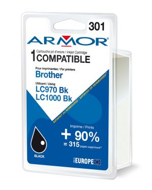 Cartuccia nera per brother lc 970- lc1000 B12378R1 3112539229771 B12378R1_ARMLC1000BK by Armor