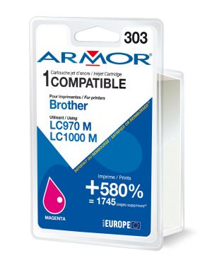 Cartuccia magenta per brother lc 970 -  lc1000 B12380R1 3112539229795 B12380R1_ARMLC1000M by Armor