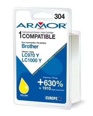 Cartuccia giallo per brother lc 970 -  lc1000 B12381R1 3112539229801 B12381R1_ARMLC1000Y by Armor