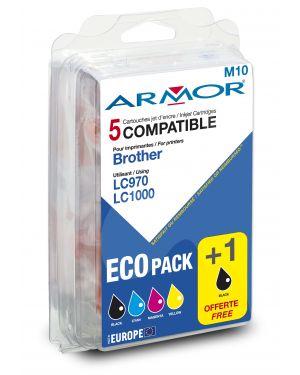 Conf. multipla 5 cartucce lc 970 - lc 1000 per c - brother (2bk 1c - m - y B10111R1 3112539229818 B10111R1_ARMLC970MP