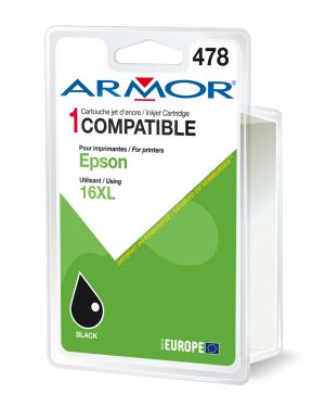 Cartuccia nera per epson workforce wf2010w 2520nf B12619R1 3112539277482 B12619R1_ARMT1631 by Armor