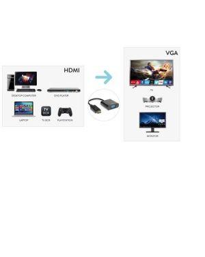 Cavo video hdmi m a vga f180p 60hz Hamlet XVAHDM-VGA 8000130592231 XVAHDM-VGA