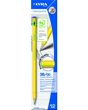 Scatola 12 matite temagraph 3b grafite lyra L1140103 4084900103050 L1140103