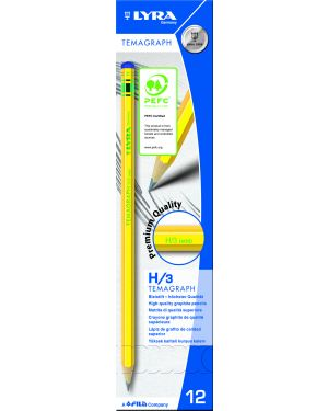 Scatola 12 matita temagraph h grafite lyra L1140111 4084900103111 L1140111