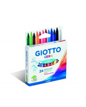 Astuccio 24 pastelli cera 90mm ø 8.5mm giotto 282200 8000825059506 282200 by Giotto