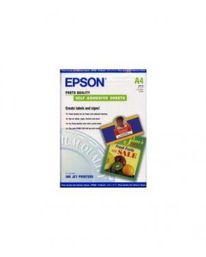 Carta fotografica inkjet adesiva 10fg 167gr 210x297mm a4 epson C13S041106_EPSS041106