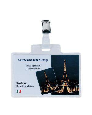 100 portanome pass 4e 11x7cm c - clip in metallo sei rota 318214 8004972012193 318214-1