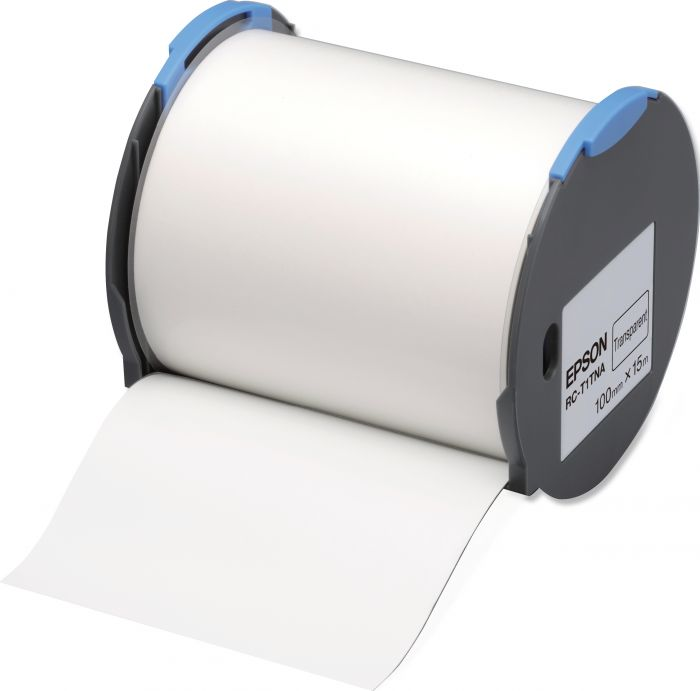 Tape - rc-t1tna 100mm transpare EPSON - LABELWORKS SUPPLIES S6 C53S633002 8715946514413 C53S633002_EPSS633002 by No