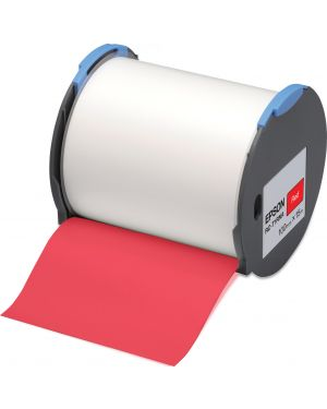 Tape - rc-t1rna 100mm red EPSON - LABELWORKS SUPPLIES S6 C53S633004 8715946515137 C53S633004_EPSS633004 by No