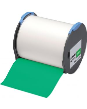 Tape - rc-t1gna 100mm green EPSON - LABELWORKS SUPPLIES S6 C53S633006 8715946515151 C53S633006_EPSS633006 by No