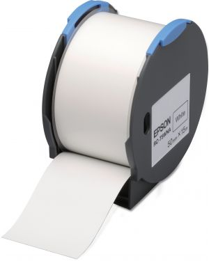 Tape - rc-t5wna 50mm white EPSON - LABELWORKS SUPPLIES S6 C53S634001 8715946515182 C53S634001_EPSS634001 by Esselte
