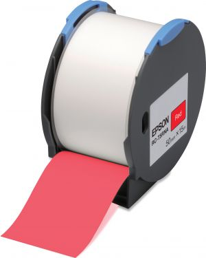 Tape - rc-t5rna 50mm red EPSON - LABELWORKS SUPPLIES S6 C53S634004 8715946515212 C53S634004_EPSS634004 by Esselte