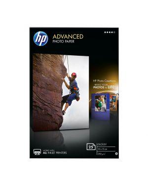 Risma 25 fg carta hp advanced glossy photo paper 250 g - m²-10 x 15 cm borderless Q8691A 882780349599 Q8691A_HPQ8691A