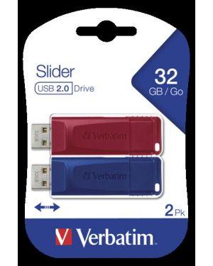 Memory usb 2.0 32gb slider 2 pack Verbatim 49327 23942493273 49327