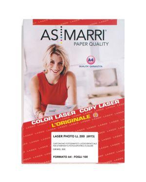 Carta laser a4 200gr 100fg photo lucida double-face 8973 as marri 8973 8023927089738 8973
