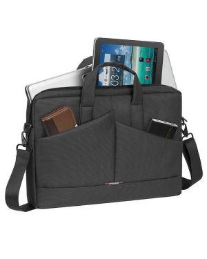 Grey diagonal plus laptop bag 15.6 Rivacase 8731GY 4260403570357 8731GY