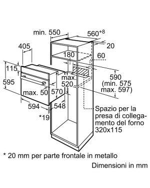 Forno 3 manopole a 66lt inox Bosch HBF011BR0J 4242005046935 HBF011BR0J