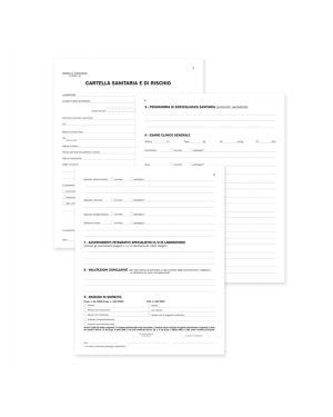 Registro cartella sanitaria - di rischio 34pag. num. 31x24,5cm du131910000 du DU131910000 8008842511014 DU131910000 by No