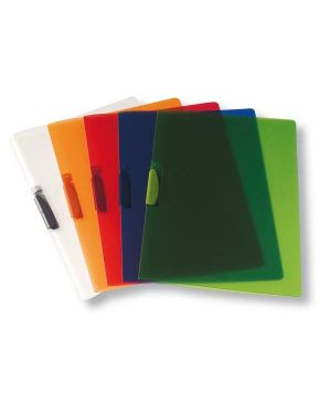 Cartellina con molla clipper rosso trasp. art.f007 leonardi F007TR 8015687009187 F007TR