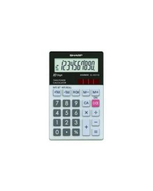 Calcolatrice tascabile elw 211gb con display 10cifre batteria e solare ELW211GBGY_SHAELW211GB