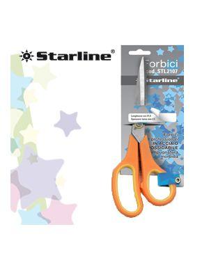 Forbici 17,8cm lama in acciaio impugnatura morbida starline 4366 8025133025517 4366_STL2108 by Starline