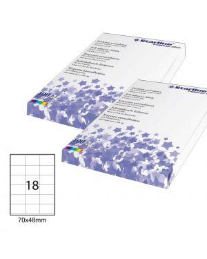 Etichetta adesiva bianca 100fg a4 70x48mm (18et - fg) starline STL3026 8025133013750 STL3026_STL3026