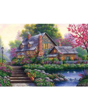 Puzzle Romantica casa di campo - 1000 pz Ravensburger 15184 4005556151844 15184
