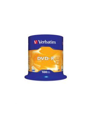 Scatola 100 dvd-r spindle 16x 4.7gb serigrafata 43549_VERBDVD-R47SE