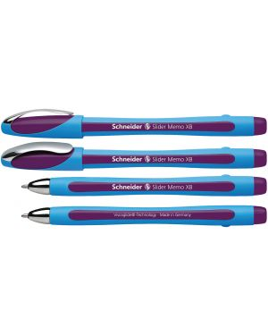 Penna a sfera slider memo xb viola schneider P150208 4004675065209 P150208_70819 by Schneider