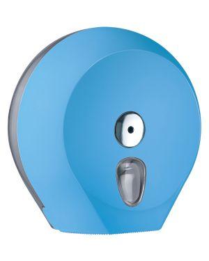 Dispenser carta igienica midi jumbo Ø23cm azzurro soft touch A75610AZ 8020090081637 A75610AZ_73971
