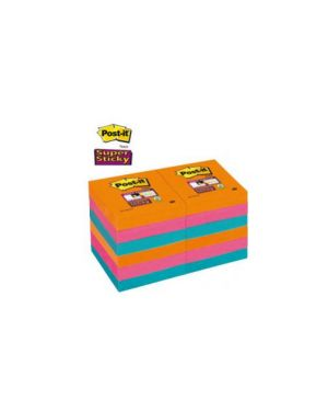 Blocco 90foglietti post-it®super sticky 47.6x47.6mm 622-12ss-eg bangkok Confezione da 12 pezzi 74200_71241 by Post-it