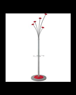 Ppendiabiti a 5 posti 187cm rosso c/portaombrelli alb PMFESTY2-R_74265